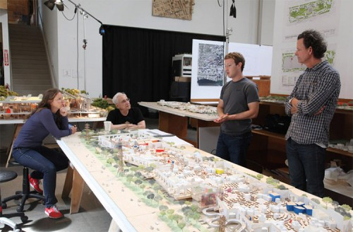 Frank Gehry's plans for a new Facebook campus. (Courtesy Gehry Partners)