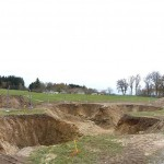 Digging a hole where the skatepark will go. (Courtesy L'Escaut Architectures)