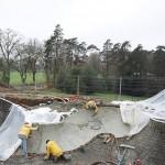 Building the skate park. (Courtesy L'Escaut Architectures)