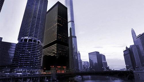 Langham Chicago hotel in Mies' IBM Building. (Courtesy Langham Chicago)