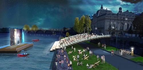 Left Bank: Port de Solférino, Musée d'Orsay (Courtesy APUR/J.C. Choblet)