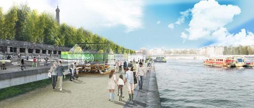 Left Bank: Port du Gros-Caillou (Courtesy APUR/J.C. Choblet)