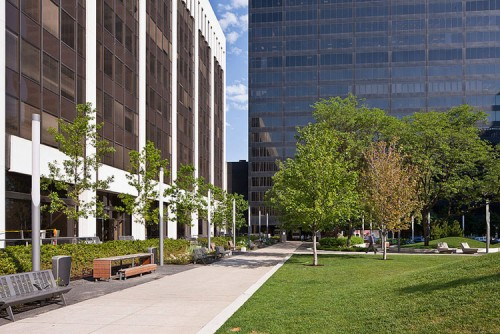 Downtown Cleveland's Perk Park, post-renovation. (Image Courtesy Scott Pease / Pease Photography.)