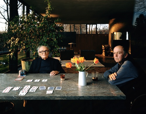 Philip Johnson and David Whitney. (Courtesy Glass House)