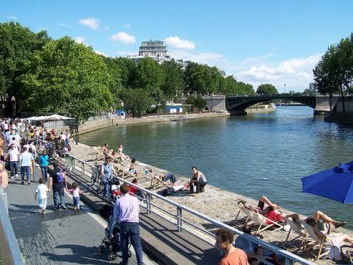Paris-Plages (Courtesy Flickr/Pierre Numérique)