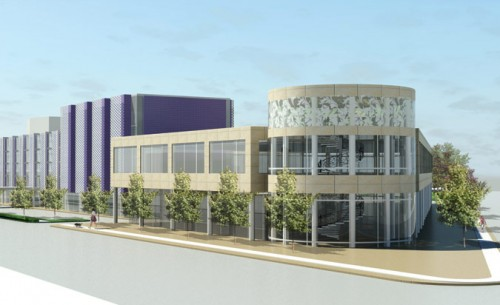Koo & Associates' plan for revamping the old Purple Hotel. (Courtesy Koo & Associates)