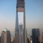 One World Trade viewed from the top of Tower Four.