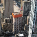 The world's tallest Holiday Inn under construction near Four World Trade.