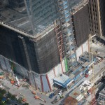 The base of One World Trade.