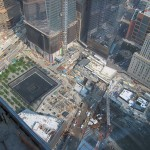 September 11 Memorial Plaza viewed from the top of Four World Trade.