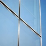 Detail of the curtain wall at Four World Trade.