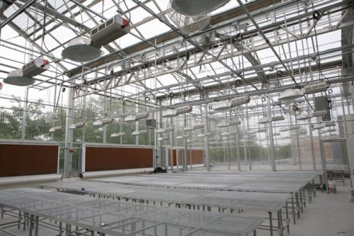 The building's state of art rooftop greenhouse.