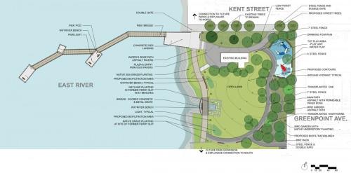 Plan of WNYC Transmitter Park (Courtesy NYEDC)