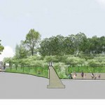 Section through Kimball Park. (Courtesy Michael Van Valkenburgh Associates)