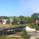 Existing view of Milwaukee Avenue Bridge and Overlook Stair. (Courtesy Michael Van Valkenburgh Associates)