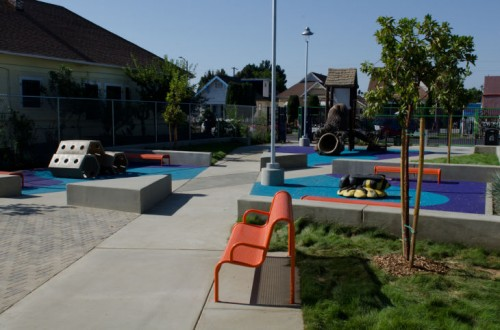 The new 49th Street Pocket Park in South Los Angeles. (Courtesy KPCC)