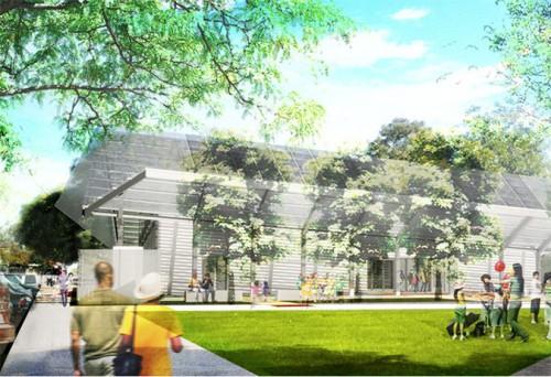Lehrer Architect's San Angelo Community Center. (Courtesy Lehrer Architects)