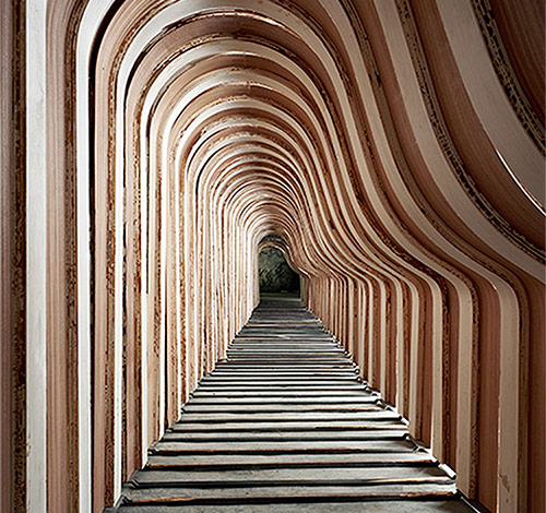 Piano frames at the Steinway factory. (Courtesy Christopher Payne)