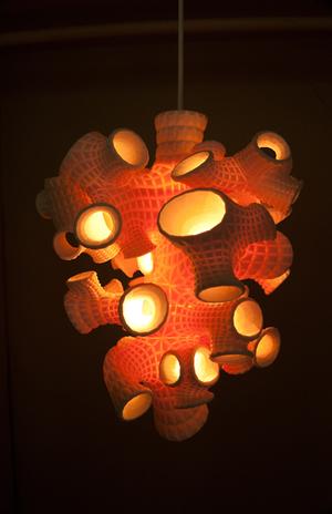 Sponge Lamp, by B+U. (MAK Center)