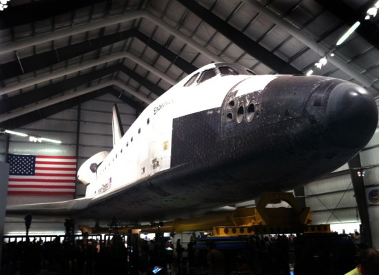 The shuttle in its new home. (Sam Lubell)