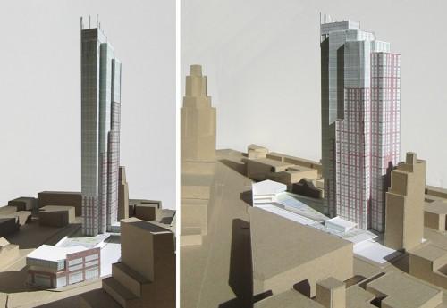 New images of the Dattner-designed Hub tower. (Courtesy Dattner Architects)