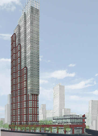 Previously Released Renderings of The Hub (Courtesy Dattner Architects)