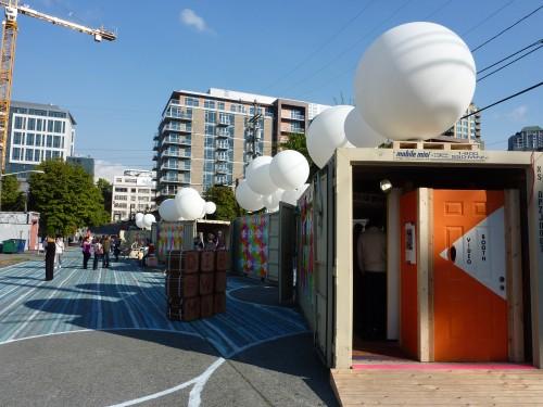 Seattle Design Festival block; looking east. (Ariel Rosenstock)