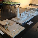 Models at the Seattle Architecture Foundation exhibit at Suyama Space in Belltown. (Ariel Rosenstock)