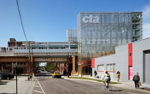 The CTA's Morgan Station. (Courtesy CTA)