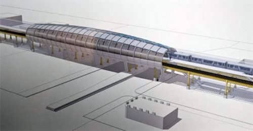 Rendering of the CTA's new Green Line station. (Courtesy CTA)