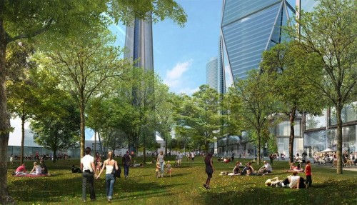 Rendering of Oxford Place Park. (Courtesy Oxford Properties)