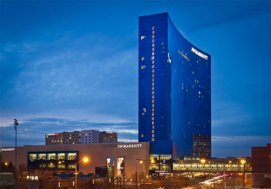 The JW Marriott hotel in Indianapolis. (Courtesy Marriott)