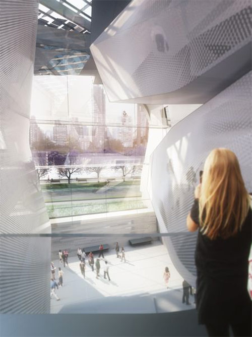 Morphosis' design for the first Phase of the Cornell Technion campus on Roosevelt Island. (Courtesy Morphosis)
