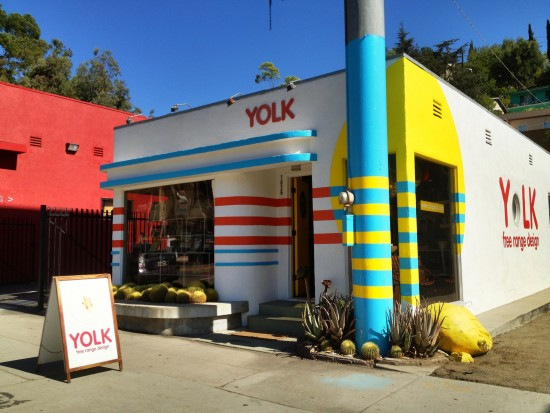 Bestor has brought Yolk's colorful interior outside. (Meara Daly)