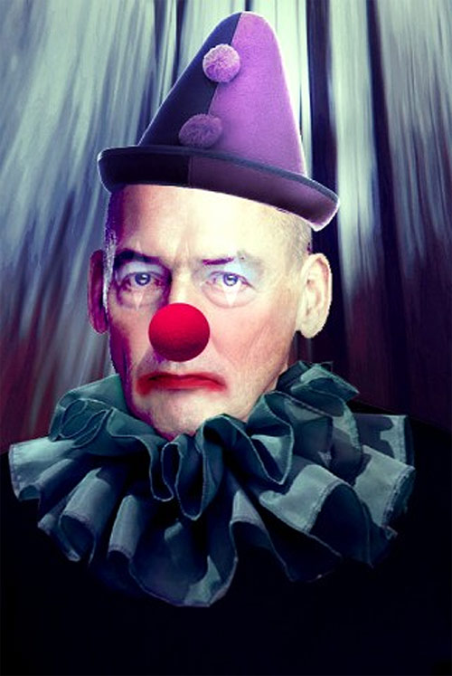 Rem Koolhaas as Pagliacci. (Courtesy Building Satire)