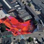 Superkilen - The Red Square. (Torbin Eskerod, Courtesy Superfex)