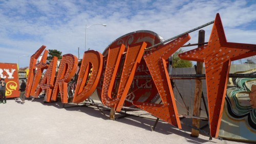 Stardust Hotel sign. (Neon Museum)