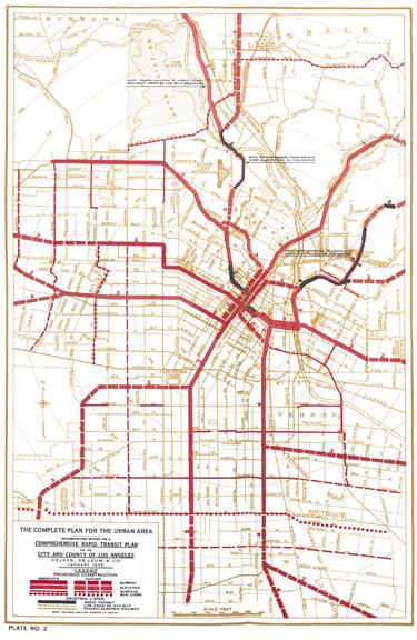 Kelker and Deleuw 1925 Subway Plan for Los Angeles