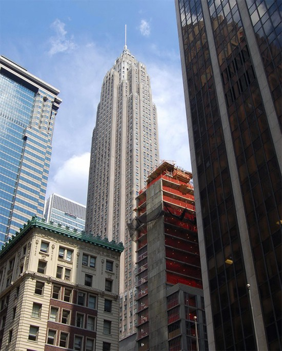 70 Pine still stands as the 6th tallest tower in New York. (Courtesy Wikipedia)