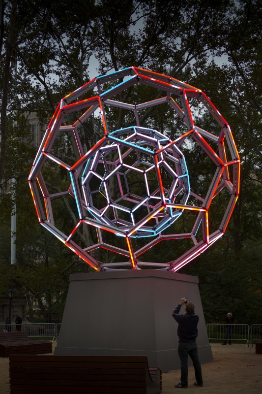 Villareal's BUCKYBALL in Madison Square Park (Photo Credit: James Ewing)