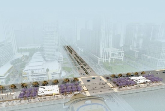 Phase one rendering. (North Embarcadero Vision Plan)