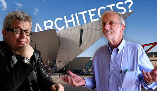 Daniel Libeskind (left) and Renzo Piano (right).