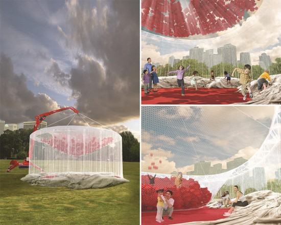 For Rent pavilion by MTWTHFSS, Ed Blumer and Pete Storey. (Courtesy Figment)