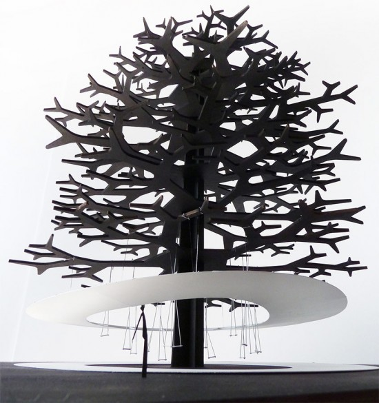 A cloud in a tree pavilion by SAMPLES, Julien Boitard and Richard Nguyen. (Courtesy Firment)