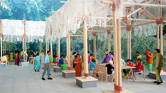 Mumbai Lab rendering. (Courtesy BMW Guggenheim Lab)