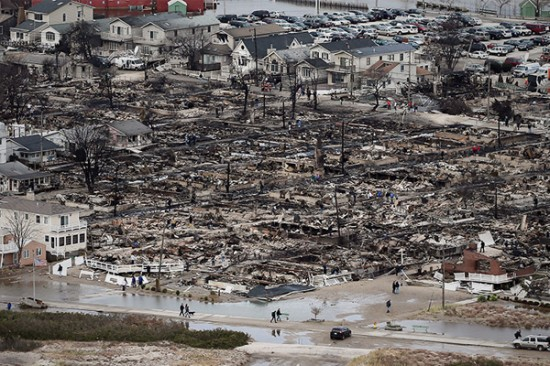 Devastation in Breezy Point, Queens (CNBC)