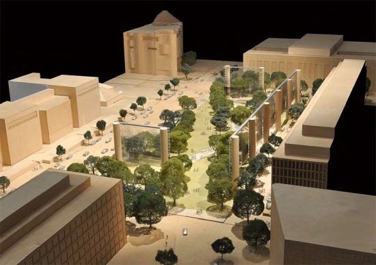 Frank Gehry's design for the Eisenhower Memorial. (Courtesy NCDC)