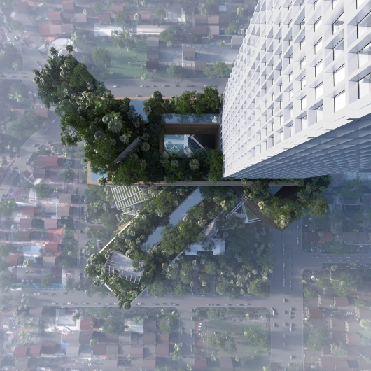 Rendering of Peruri 88 from above (Courtesy MVRDV)