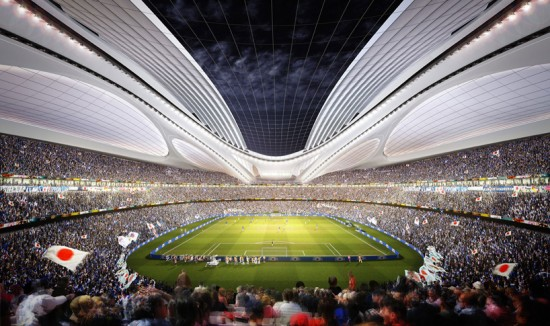 Zaha Hadid's winning stadium proposal. (Courtesy Japan Sport Council)