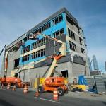 Construction progress at the 7 Line subway extension air vent. (Patrick Cashin/Courtesy MTA)